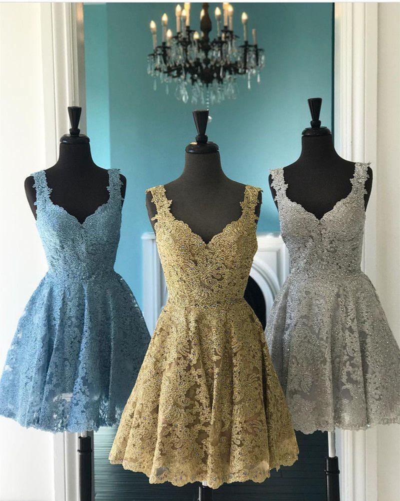 Elegant Lace Homecoming Dresses,Short Prom Dress,Semi Formal Dress ...