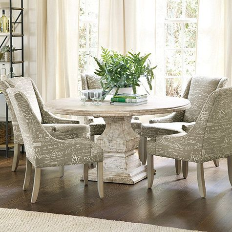 Andrews Pedestal Dining Table Ballard Designs White Rooms
