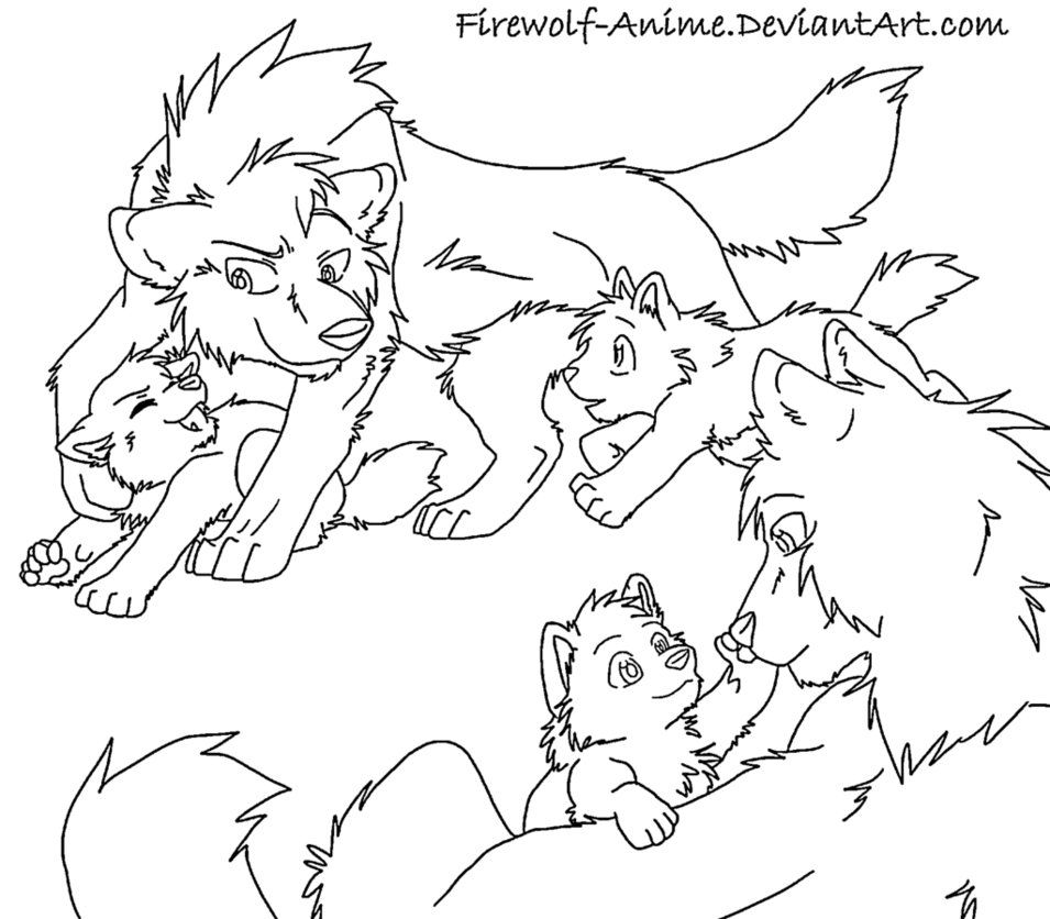 wolf couple drawing | Dog line art, Anime wolf, Horse ...
