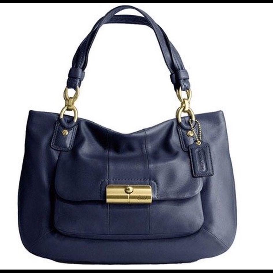 b9beccdda897 Navy Leather Coach Handbag Brand New!!!