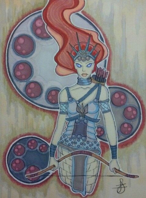 ***SOLD*** Artemis by JoieHigginsArtist on Etsy, $35.00