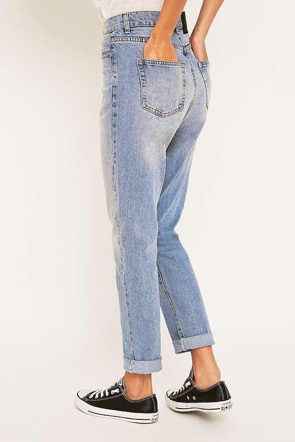 d8c3848a80f3 Slide View  4  Cheap Monday Donna Mid Blue Straight Leg Jeans