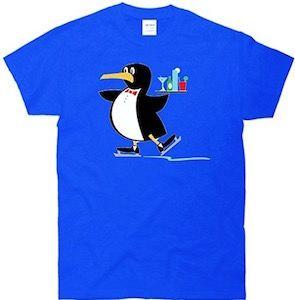 Skating Penguin Bartender T-Shirt.