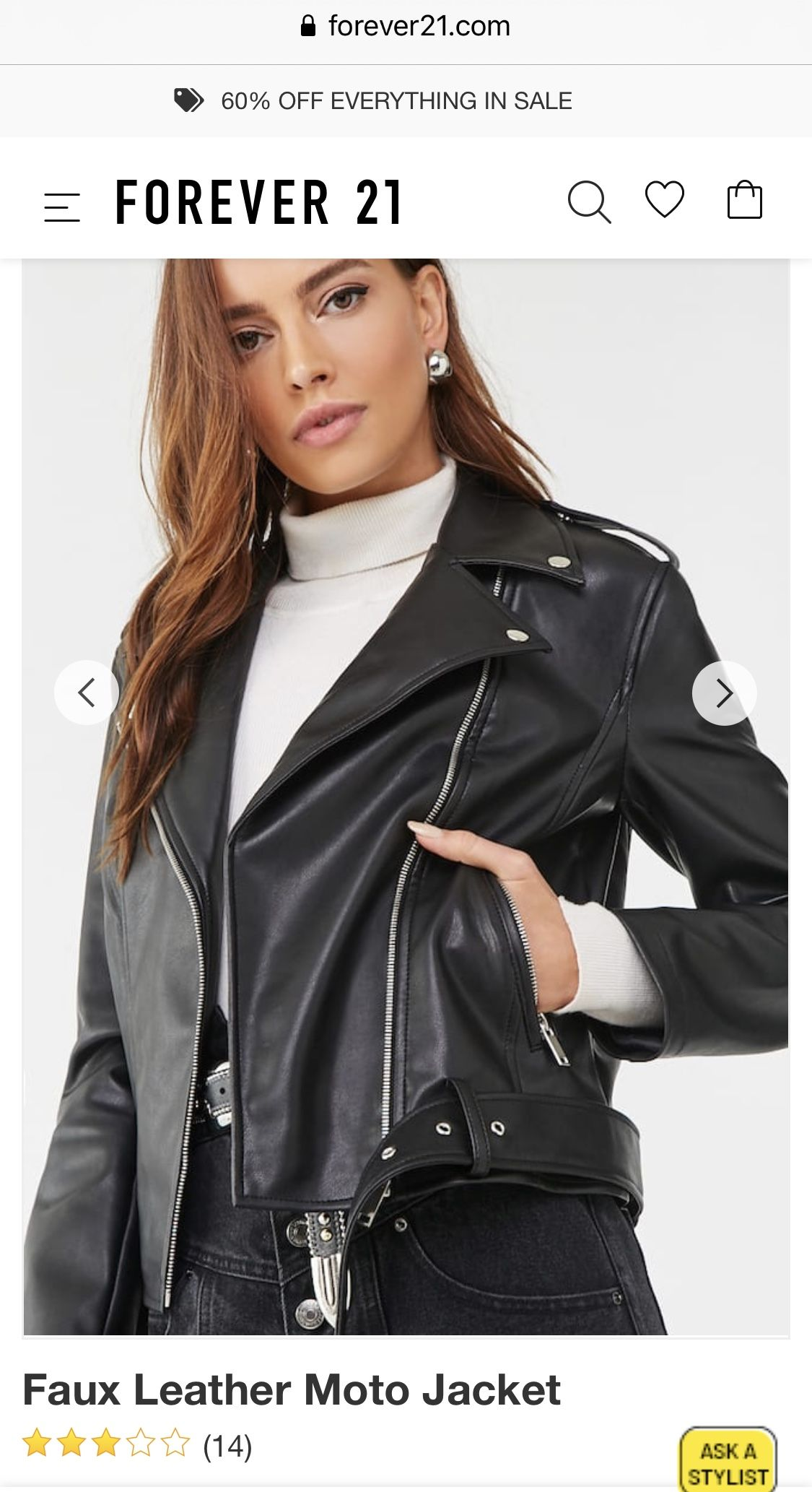 Faux Leather Moto Jacket in 2020 (With images) Faux
