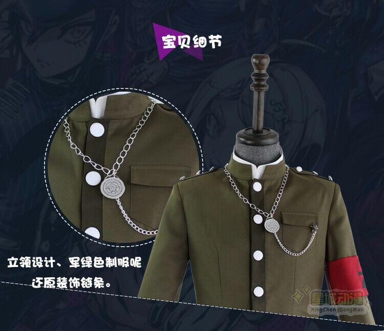 Danganronpa V3 Korekiyo Shinguji School Uniform Complete Outfit Cosplay Costume