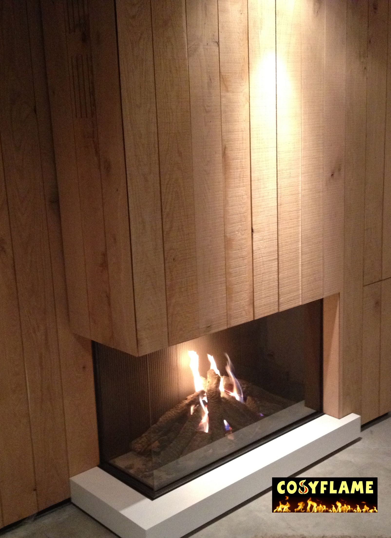 Www Cosyflame Be Closed Balanced Flue Gas Fire Corner Left Open
