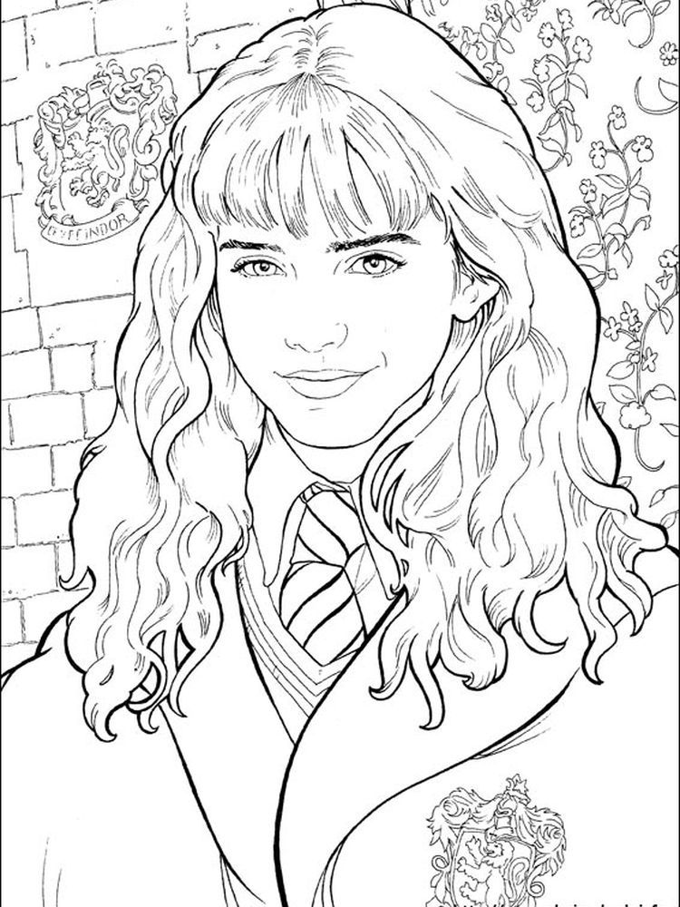 Hermione Granger Coloring Pages : hermione, granger, coloring, pages, Hermione, Coloring, Muharib, Media