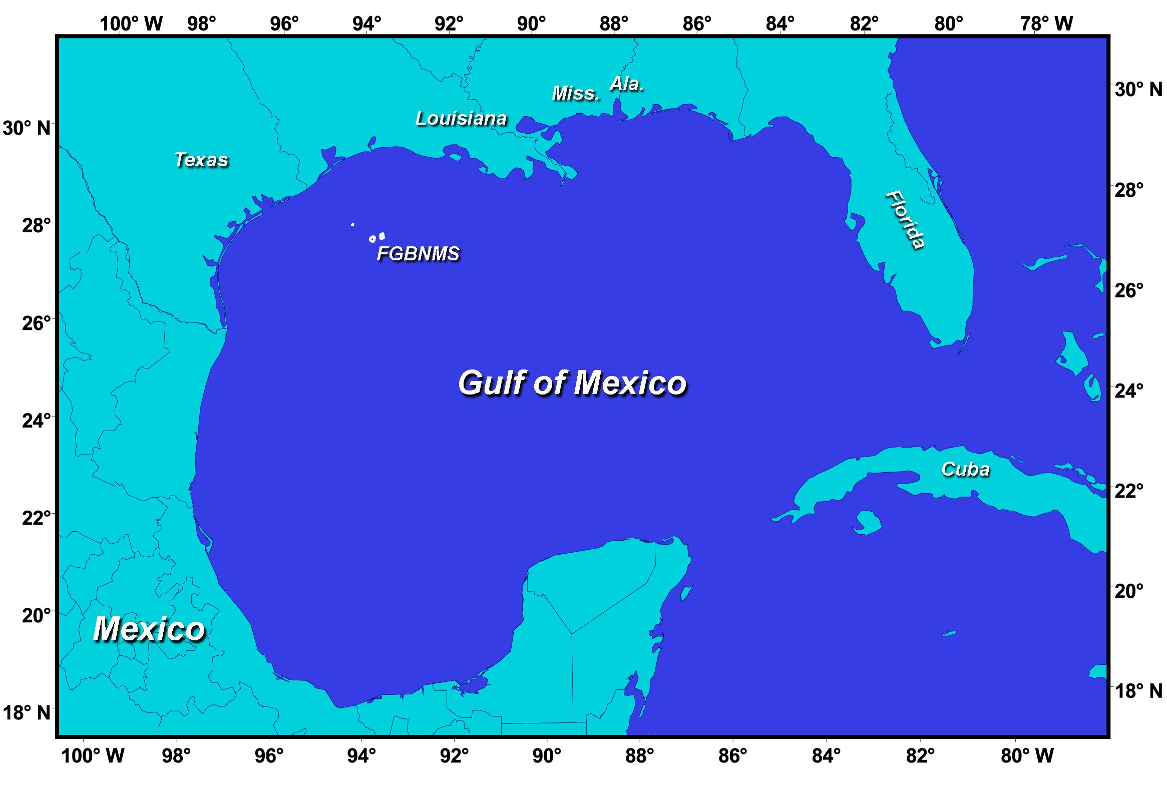 Gulf Of Mexico Gulf Of Mexico Map See Map Details From Seas Oceans