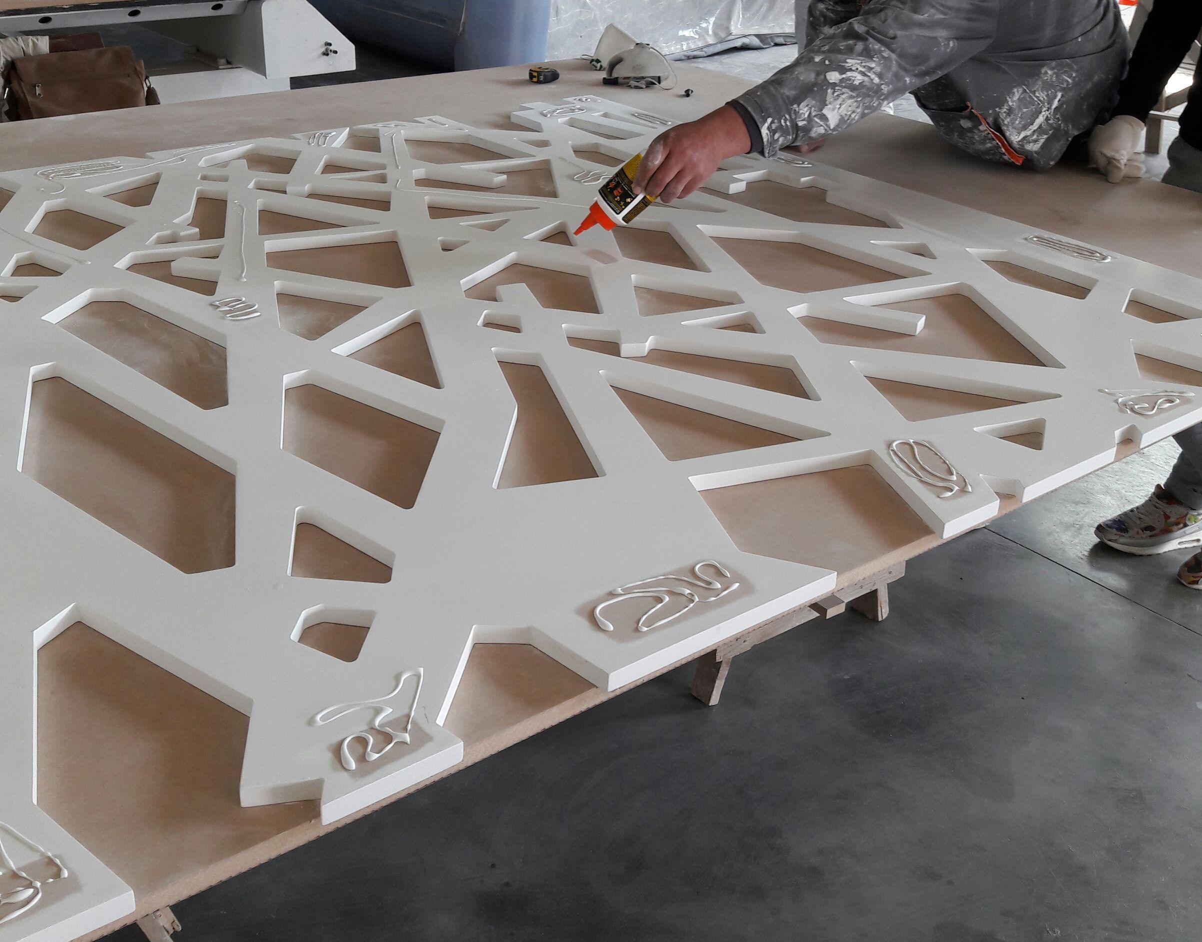 Fabrication Panneau Ajoure Bois Paravent Design Carrelage Mural 3d Deco Maison