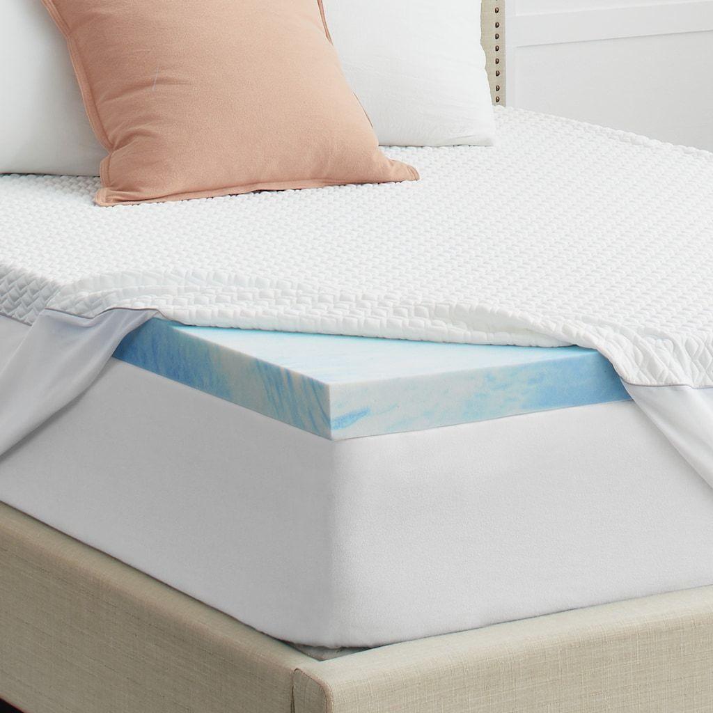 Sealy 3 Memory Foam Mattress Topper Cover In 2020 Memory Foam