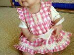 Free baby dress pattern size 9month, 12 month,  Japanese ハンドメイド 無料 型紙 作り方 洋裁 手芸サイト