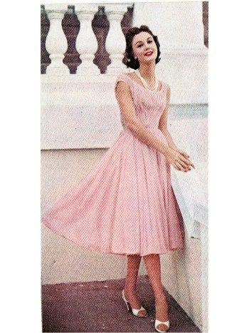 Pink Chiffon Dress Ceil Chapman 1955 Pink Chiffon Dress