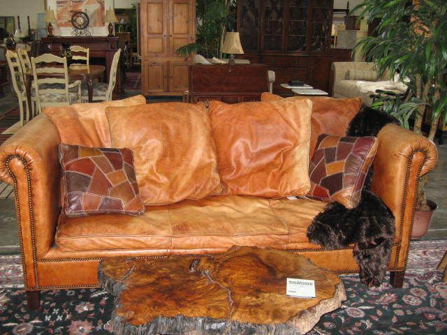 Vintage Ralph Lauren Couch Leather Couch Saddle Leather Ralph