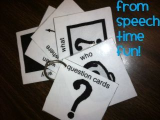 """Speech Time Fun: Introducing: """"Wh"""" Questions at School Fun Deck App and Question Cards Freebie!"""
