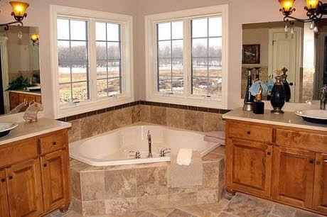 master bathroom corner tub | master bathroom decor, corner
