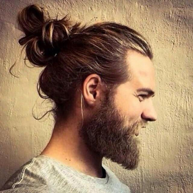 I Believe In Jesus Man Bun Hairstyles Man Bun Beard Thick Hair Styles