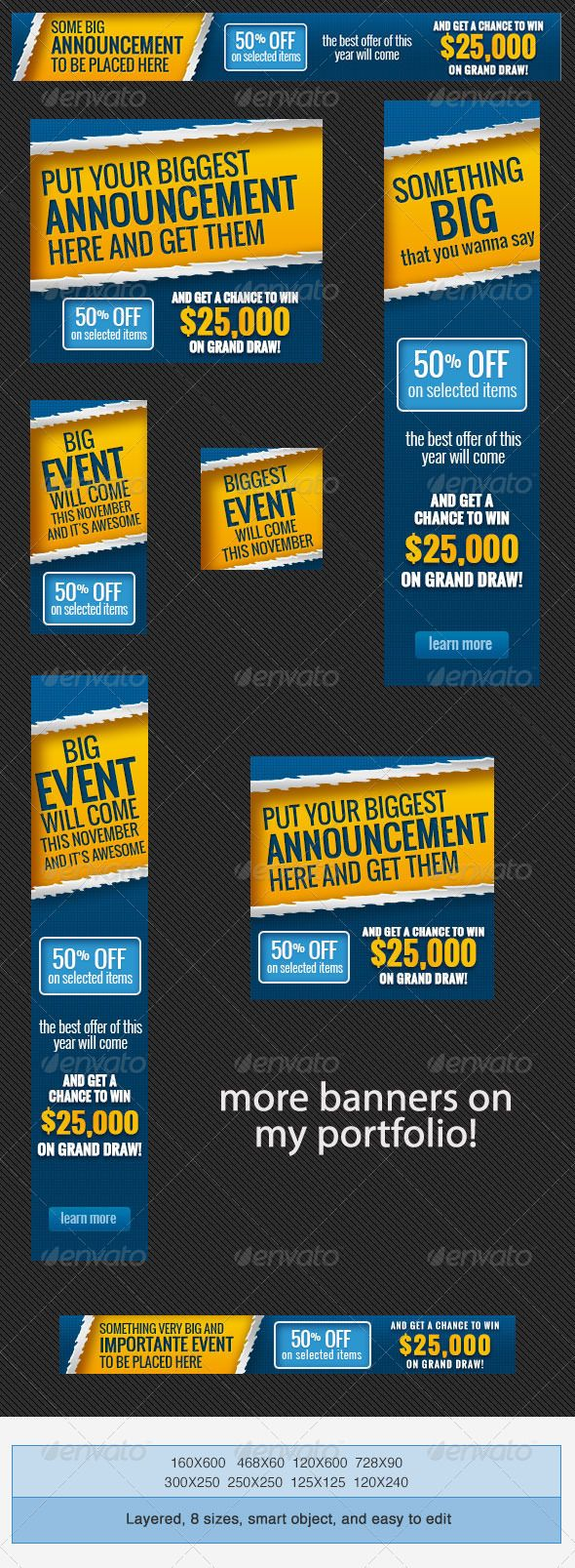big event banner ads psd template advertising affiliate big event banner ads psd template psd here graphicriver