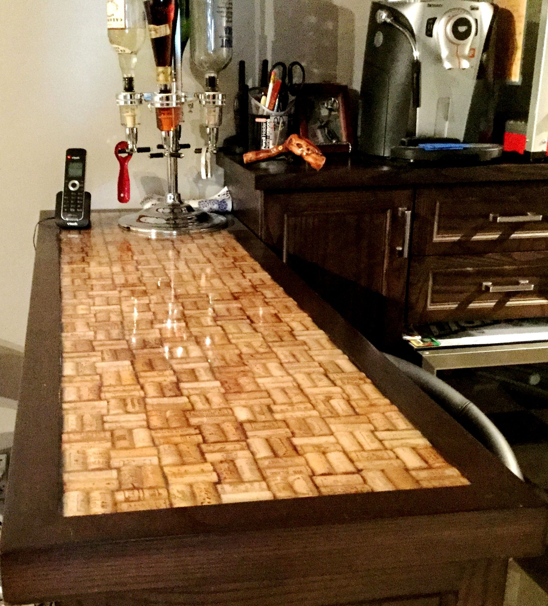 Wine Cork bar top