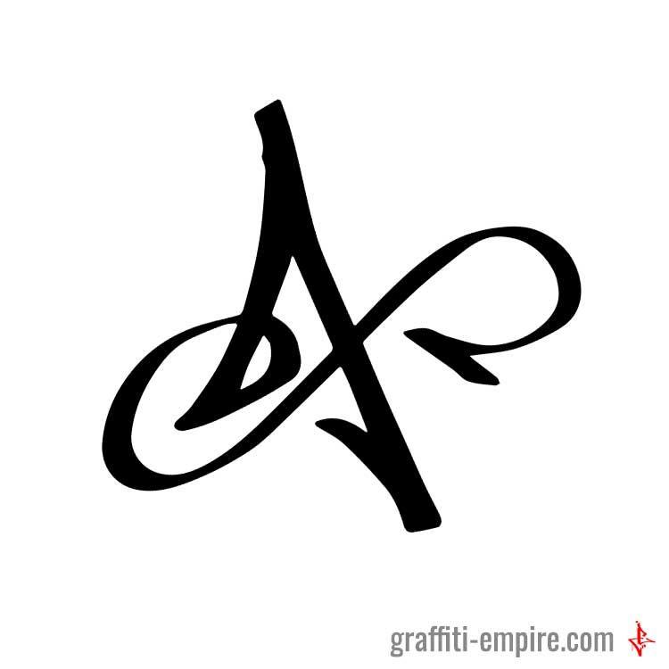 graffiti letter a Hand Lettering Pinterest