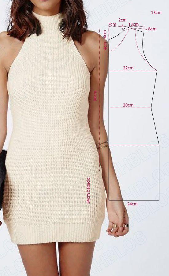MOLDE VESTIDO LINDO E FÁCIL DE FAZER. #modelagem, #moldes #costura ...