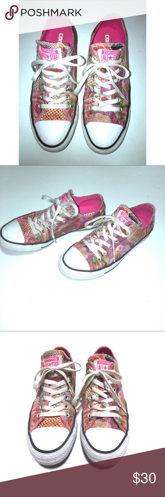 ad93279bfea1 Converse Chuck Taylor All Star Floral Sneakers Sz7 Converse Chuck Taylor  All Star Sneakers. •