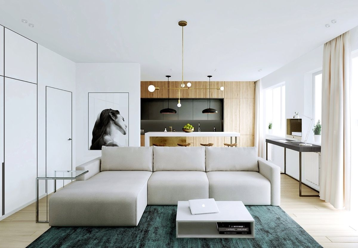 Modern Apartment Decor With Minimalist and Natural Neutral Color ...