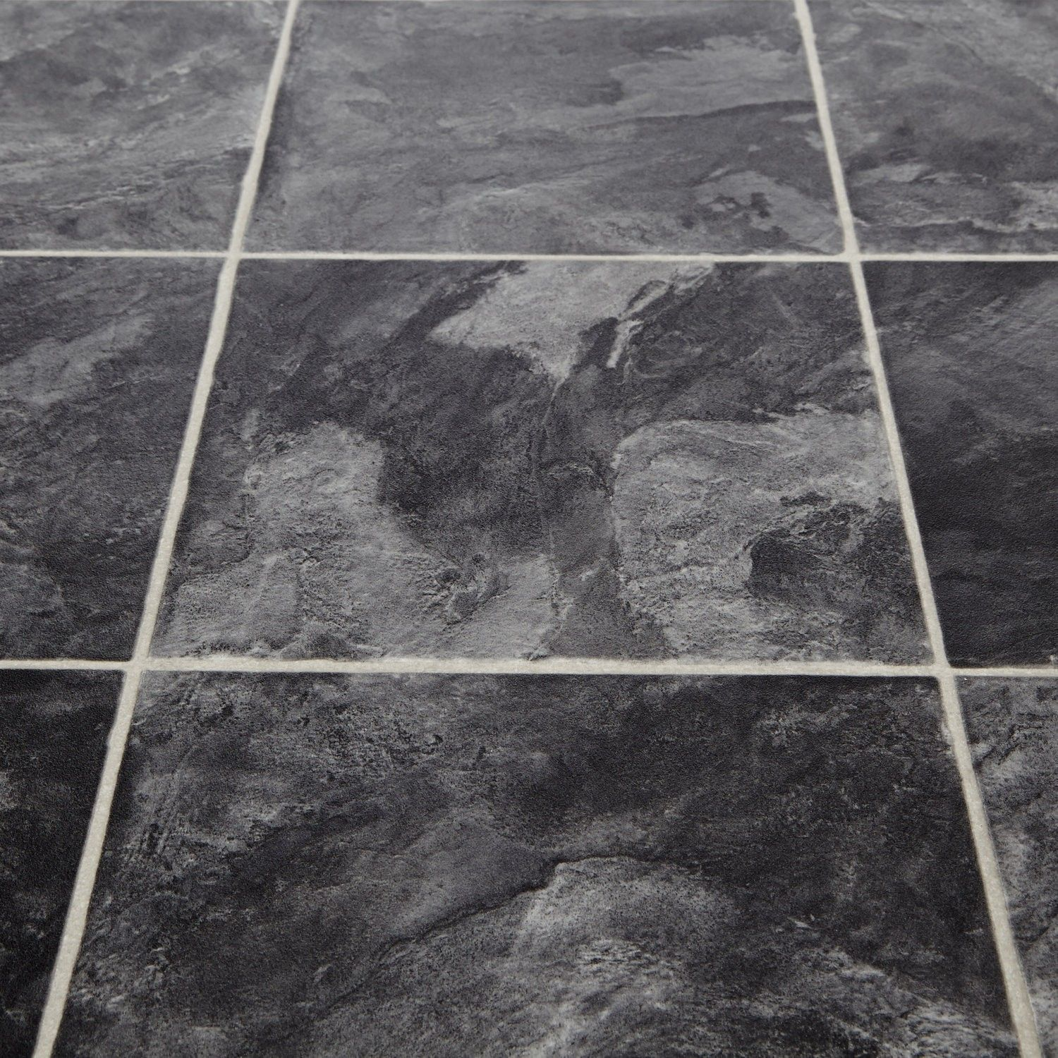 Black And White Kitchen Vinyl Flooring softstep 99n collibri stone tile effect vinyl flooring £9.99