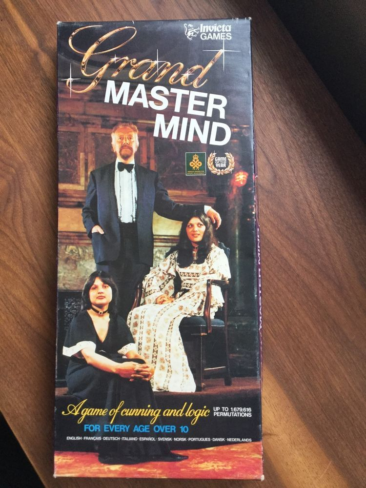 Vintage Grand Mastermind Game from Invicta 1977 Clean