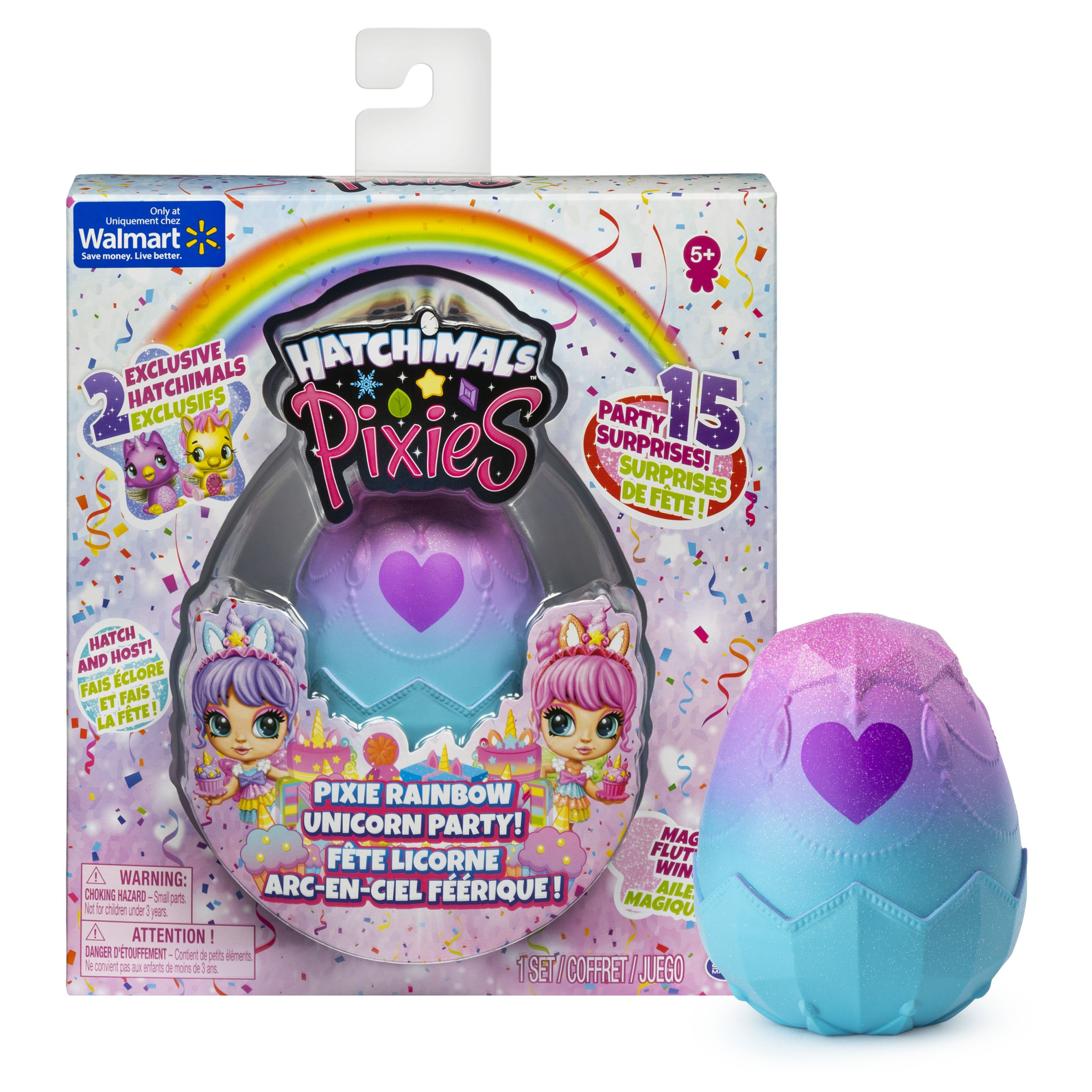 Hatchimals Pixies Rainbow Unicorn Party With 2 5 Inch Collectible