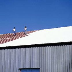 Smart Roofs Provides Metal Roof Coatings With The Complete Conklin Mr System Prevents Leaks Exte Roof Coatings Metal Roof Coating Commercial Roofing