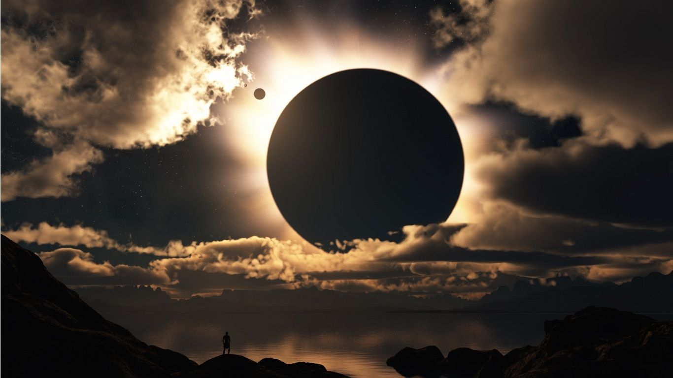 Solar Eclipse For Desktop wallpaper 1366x768 34610