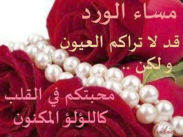 مساء الورد للحبايب Flower Quotes Romantic Good Night Image Evening Greetings