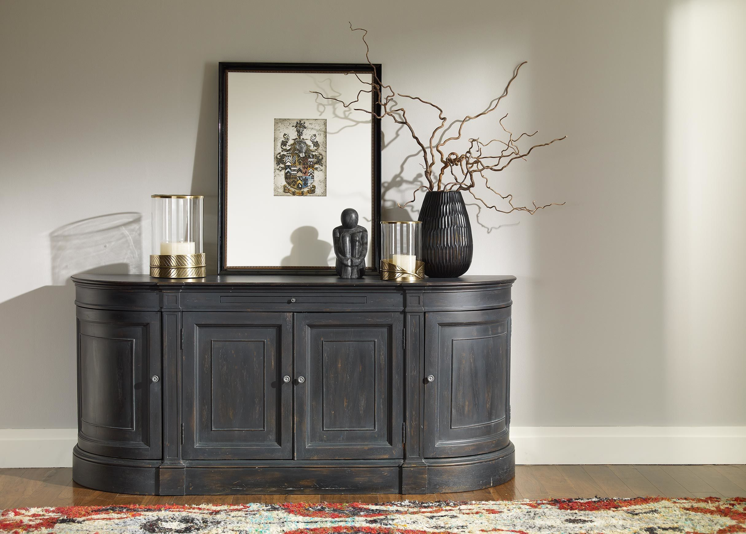 Emanuel Demilune Buffet Heirloom 692 Large Gray