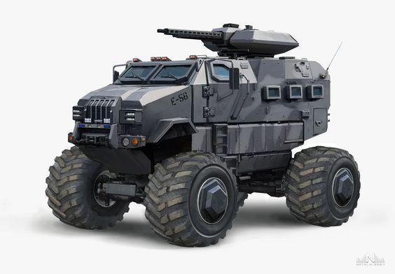 ArtStation - Military Vehicle , Natalia Babiy