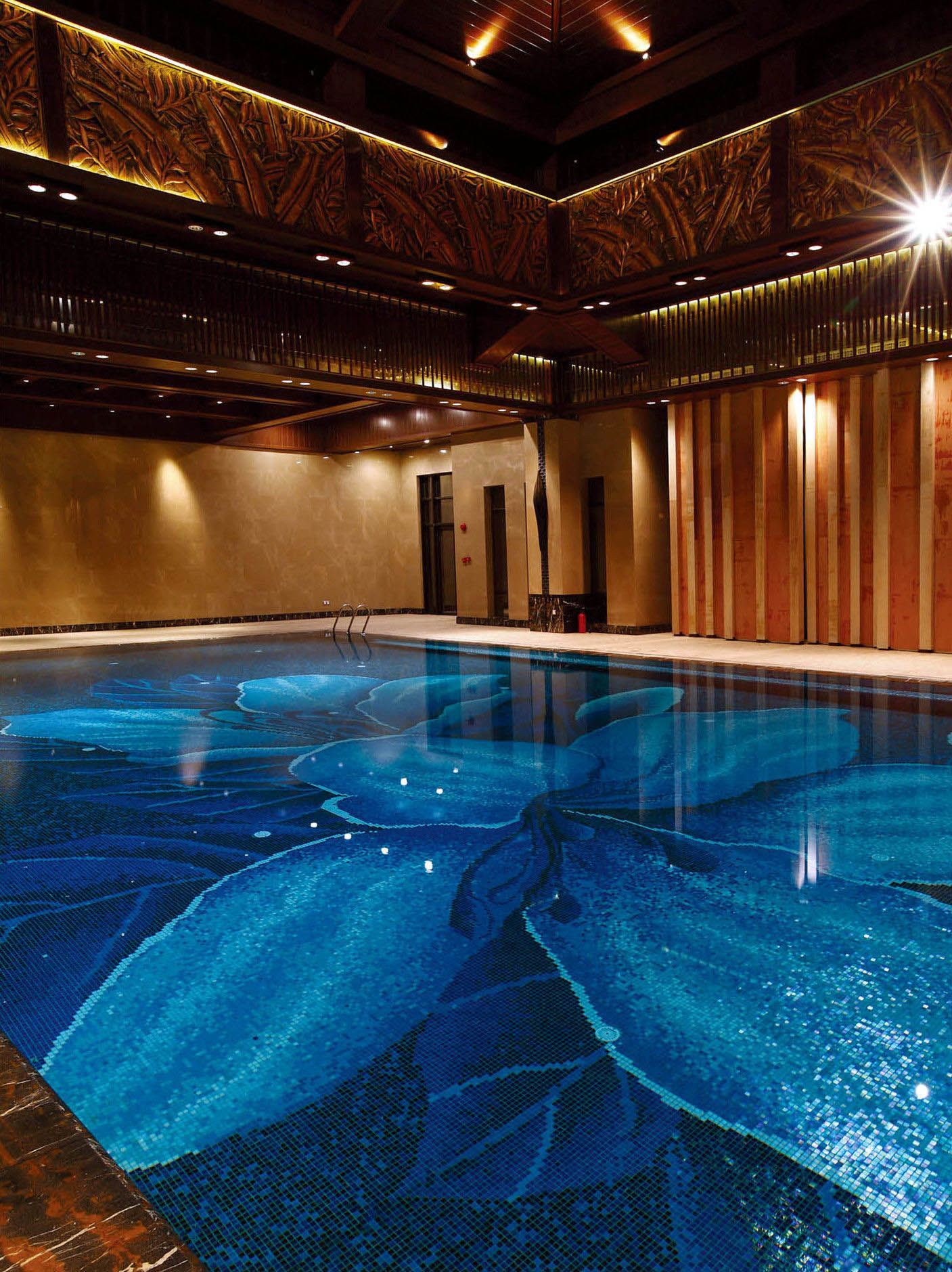 Top Cost Of Building An Indoor Swimming Pool Only In Neuron Home Design Mosaic Pool Big Swimming Pools Luxury Swimming Pools