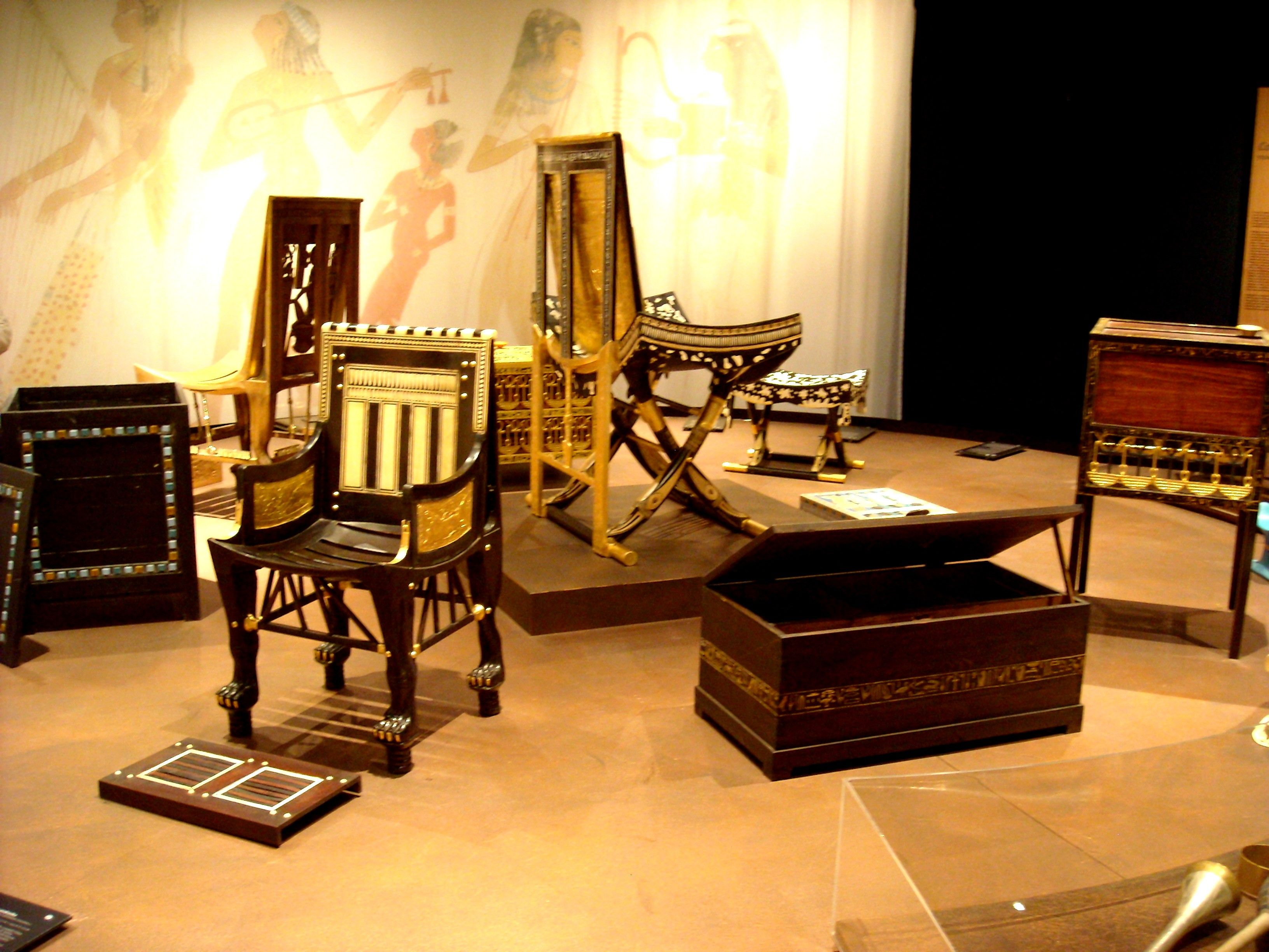Ancient egyptian furniture -  Ancient Egyptian Furniture From Tutankhamun S Children Years Discover Egypt With