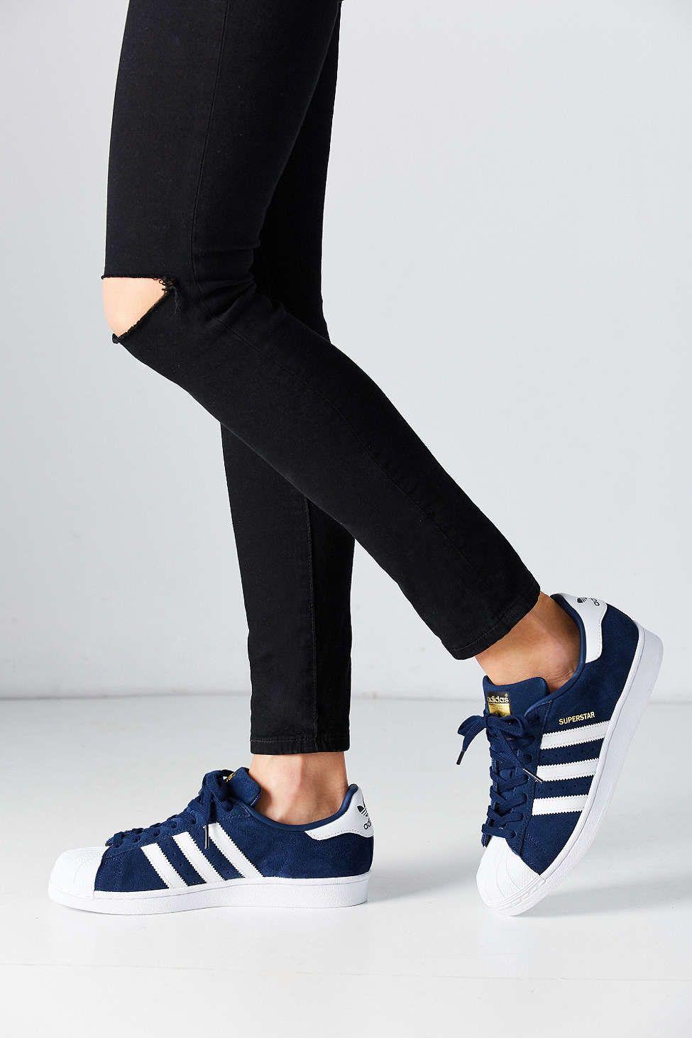 adidas superstar bleu marine femme
