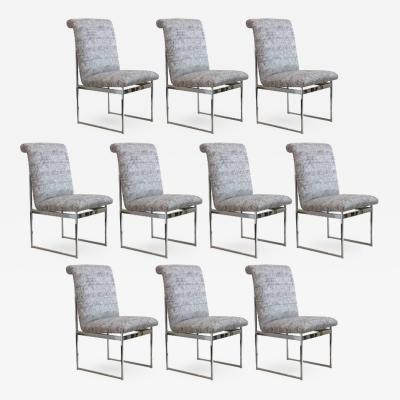 Milo Baughman Set of Ten Dining Chairs by Milo  Baughman