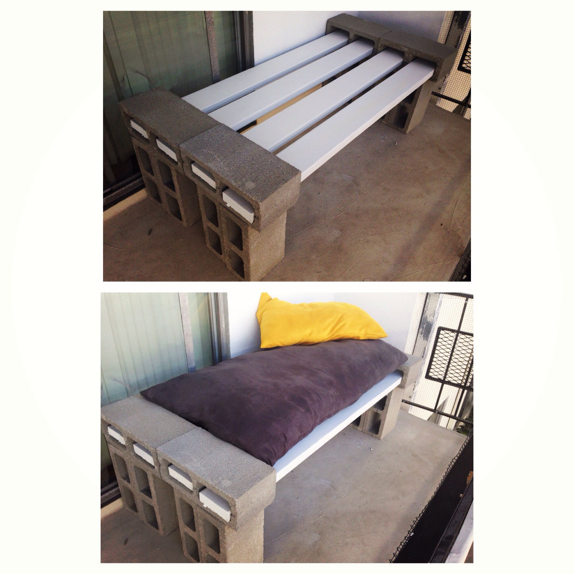 Size Of Board Diy Patio Balcony Bench Daybed