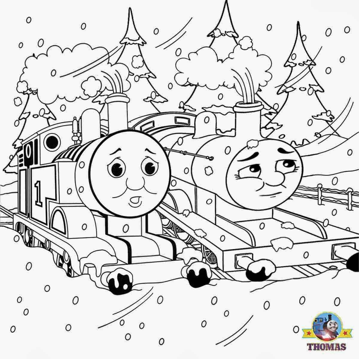ewtfgwho thomas the train and his friends coloring pages free for ...
