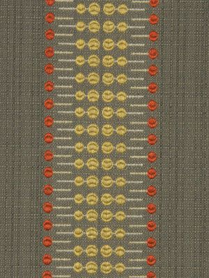 Grey Yellow Striped Upholstery Fabric Orange Grey Fabric For