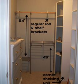 These Walk In Closet Design Ideas Utilize Two Different Types Of Bedroom  Closet Systems In Order