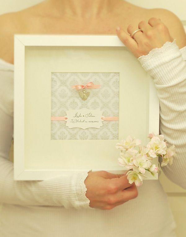 Hochzeitsgeschenk Schutzengel aus Silber im Rahmen von amberemotion  Hochzeit  Geldgeschenke