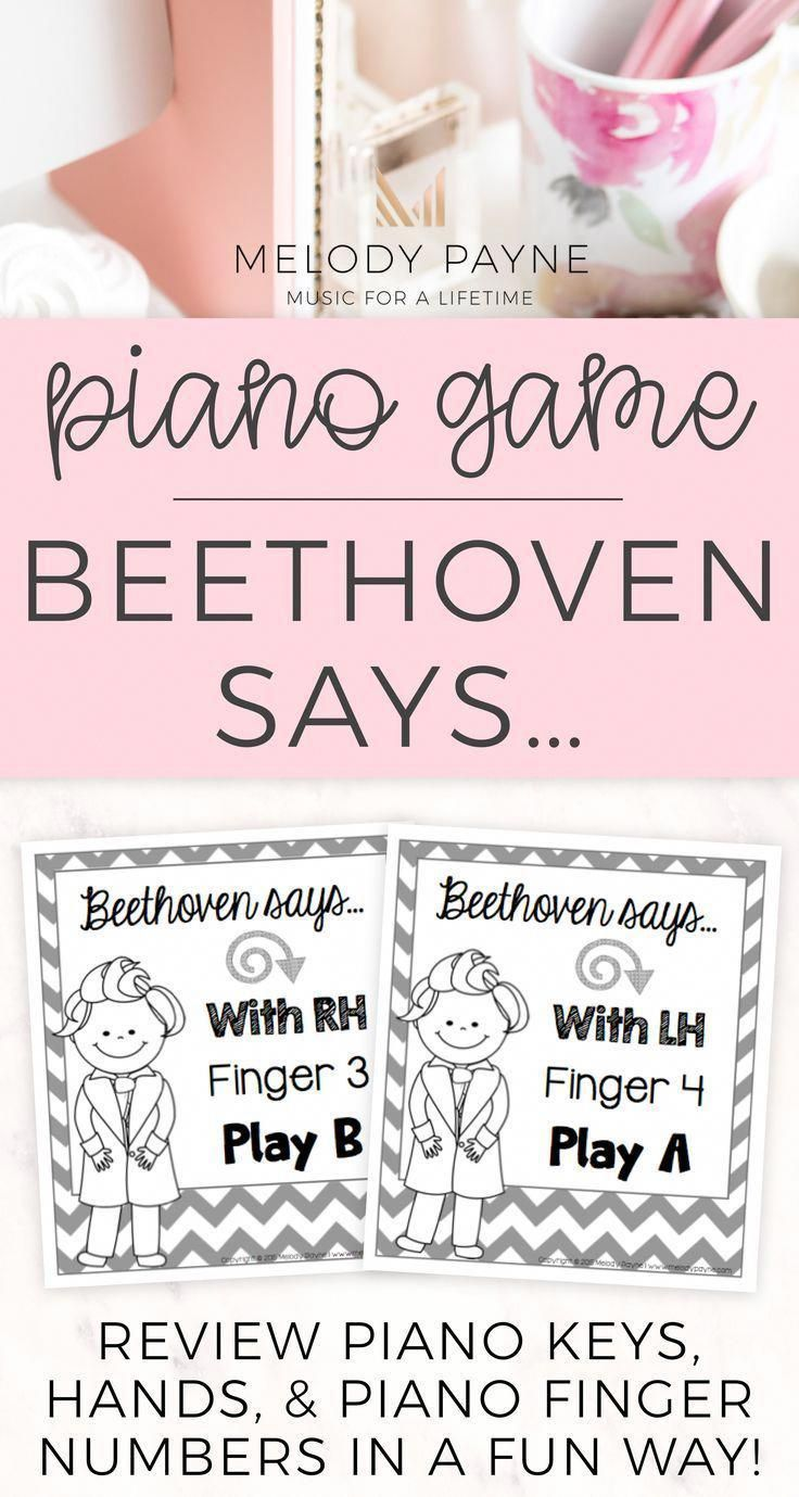 Piano finger numbers game Review right hand, left hand
