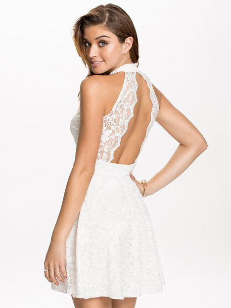 Collar Lace Skater - Nly One - White - Party Dresses - Clothing - Women -  Nelly.com 9f2a8b32c9
