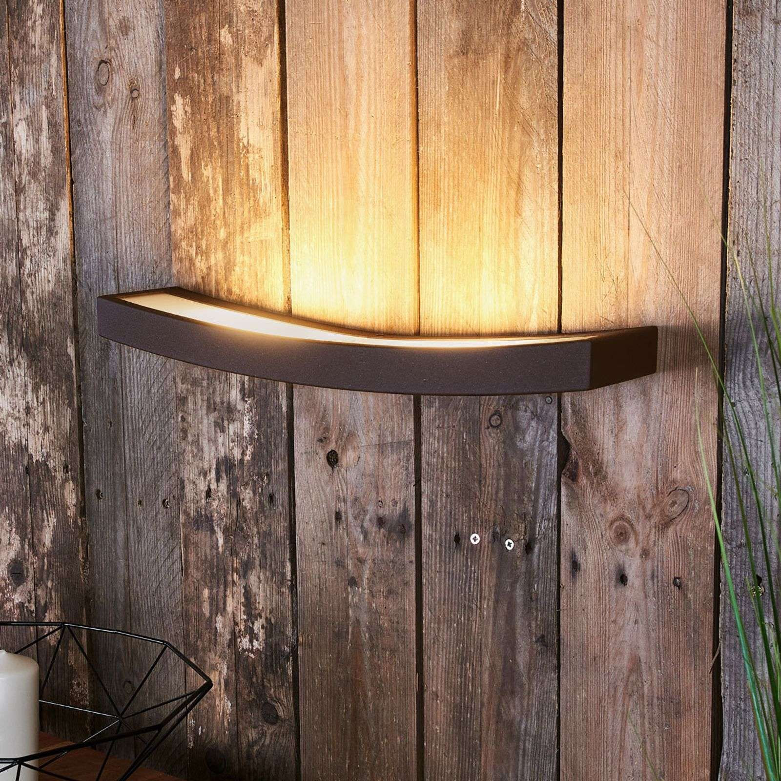 Applique Led Dolce Aspect Rouille Largeur 50 Cm Wandlamp Indirecte Verlichting Muurverlichting