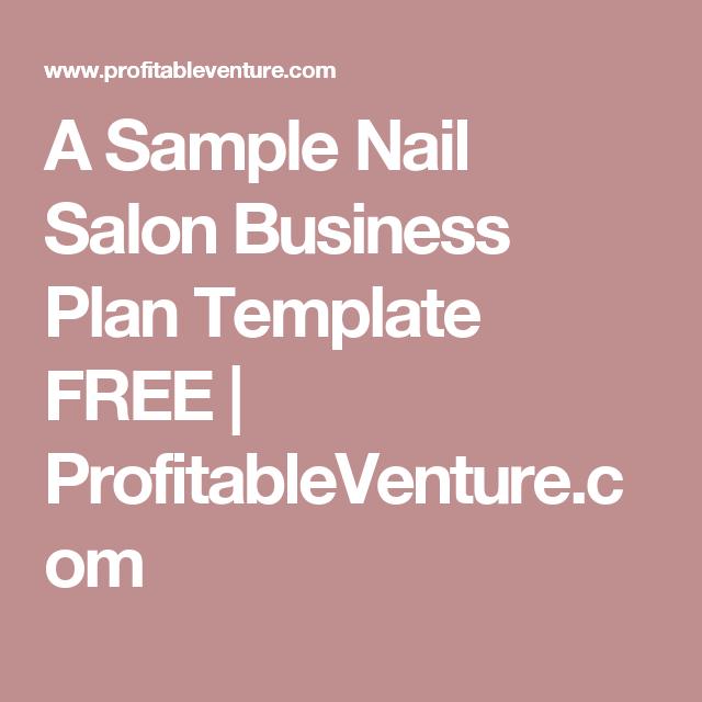 A Sample Nail Salon Business Plan Template FREE ...