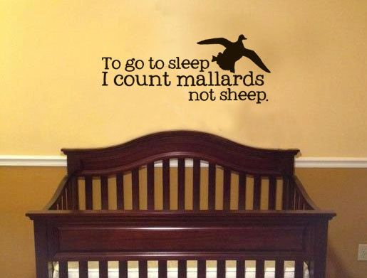 to go to sleep i could mallards not sheep Vinyl Wall Art Decal Boys ...