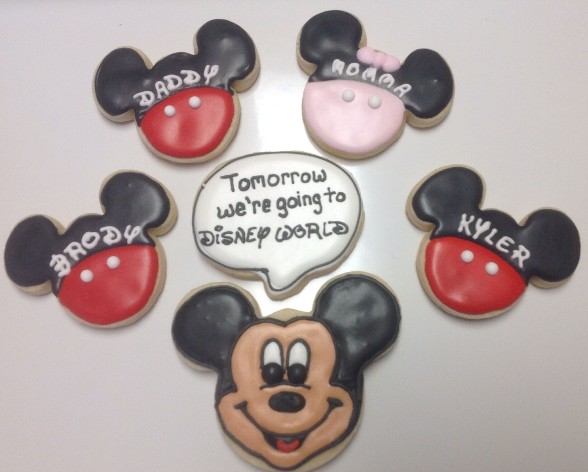 Mickey Mouse decorated Sugar Cookies by I Am the Cookie Lady