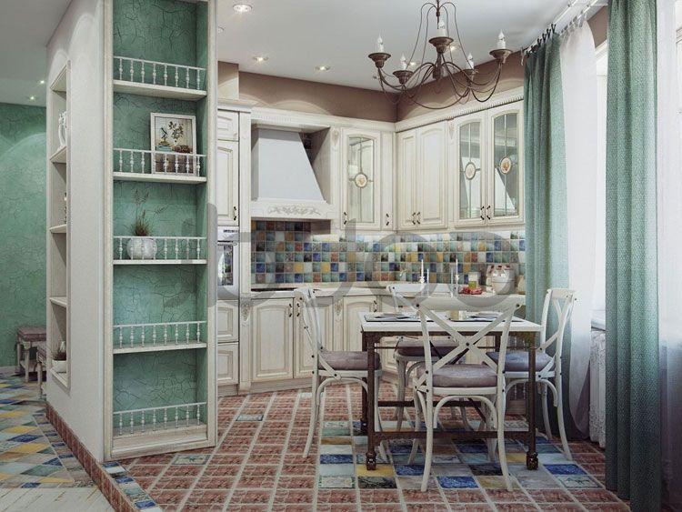 Cucina shabby chic in stile provenzale romantico n.12